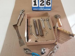 Water Pump Pliers  Chisels  Crescent Wrenches