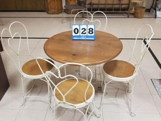 Vintage Ice Cream Table and Chairs