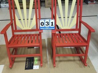 2ea  KC Chiefs Adirondack Rocking Chairs
