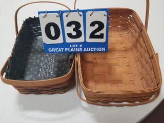 Two longaberger Baskets