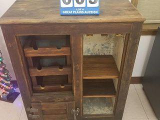 Primative Wine Bar Cabinet