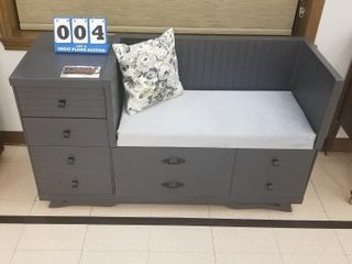 Refinished Sitting Couch with Drawers