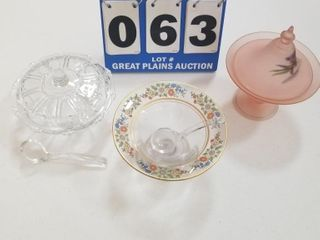 lot of Pink Glassware