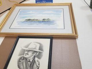 2 Framed Pictures