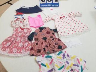 10 piece Handmade Doll Clothing lot  1