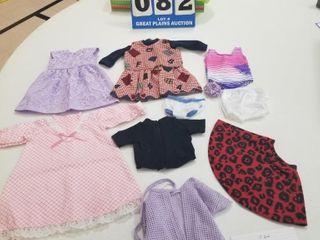 10 piece Handmade Doll Clothing lot  2