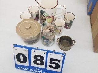 Jar of Marbles    Assorted Glassware
