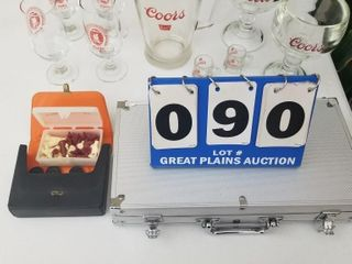 Coors Glassware  Chess Set  Poker Chips