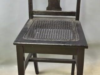 Vanity  low Back Cane Seated Chair