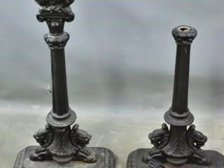 Cast Iron Candle Stands