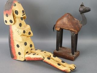 Carved Sitting Dog and Camel