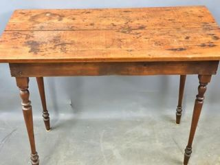 Pine topped table