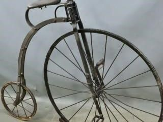 Penny farthing bicycle scupture