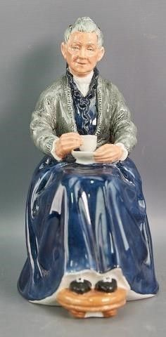 The Cup of Tea  Signed Royal Doulton Figurine
