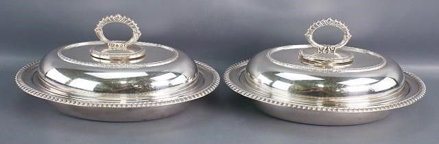 Pair of English Oval Entree Dishes