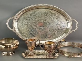 Silverplate tray etc
