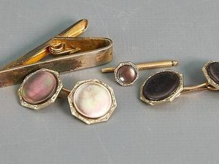 Pair of Cufflinks and Tie Pins
