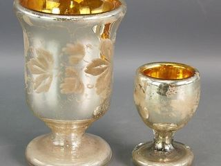 Mercury Goblet and Egg Cup