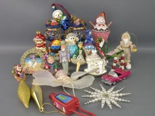 Tray lot of Christmas Ornaments