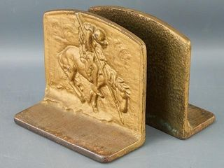 Pair of Cast Brass Bookends