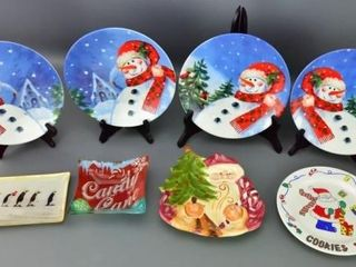 Assortment of Christmas Plates