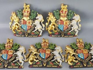 5 Royal Coat of Arms Wall Plaques