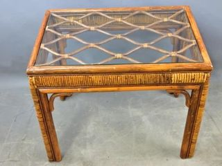 Rattan  Style End Table