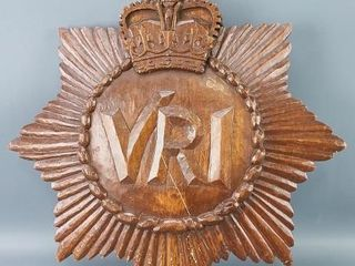Carved VRI Wall Plaque