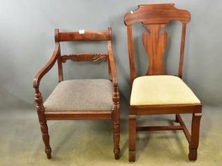 Regency Chair and Empire Style Side Chair