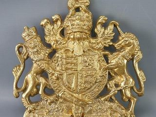 Brass Royal Coat of Arms