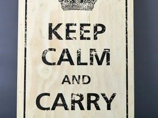 WWII  Keep Calm   Carry On  Wall Plaque