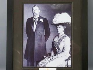 George V   Queen Mary Framed Photo