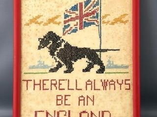 There ll Always be an England  Needlework Picture