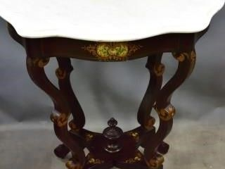 Faux  Rosewood  Finish Parlor Table