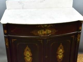 Faux  Rosewood  Finish Washstand