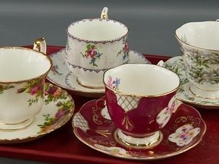 4 Royal Albert Cups and Saucers