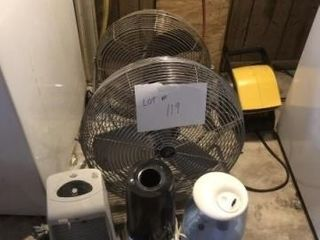 3   fans and 3   humidifiers
