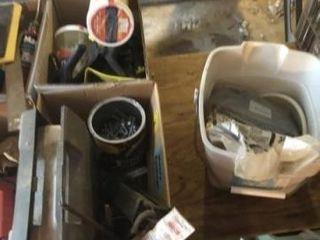 Misc  plumbing  nails  zip ties  clamps