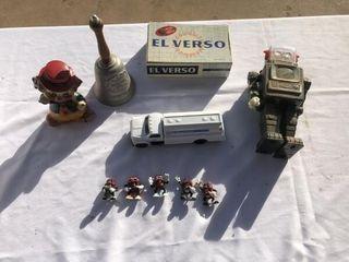 Metal robot  Ertl truck  California Raisin