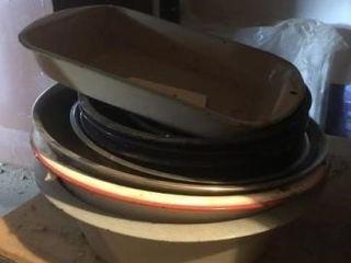 Misc  enamel cooking pans