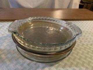 Glass pie plates  glass cookware  casserole dish