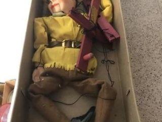 Vintage wooden Robin Hood puppet