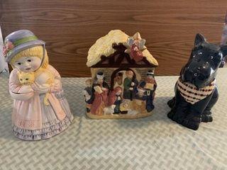 cookie jars  serving dish  rooster figurines McCoy