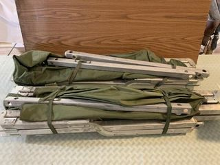 2   Army cots and bag