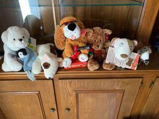 An assortment of stuffed animals