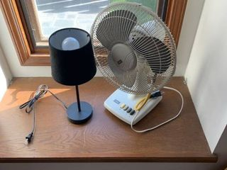 Small lamp and oscillating fan