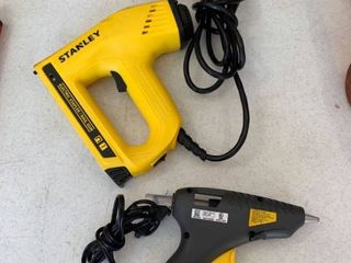 Stanley electric stapler nail gun and hot glue gun