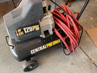 Central pneumatic air compressor