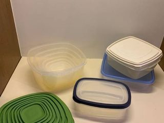 Assorted storage containers with lids