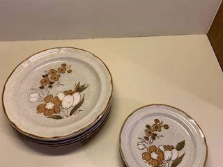 Baroque Hearthside stoneware dish ware 11 pieces